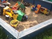 Sandkasten selber Bauen