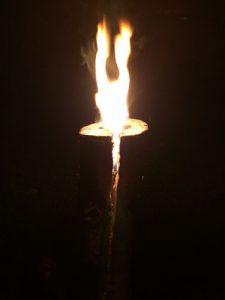 Schwedenfeuer während dem Brennen