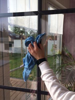 Fenster gründlich reinigen