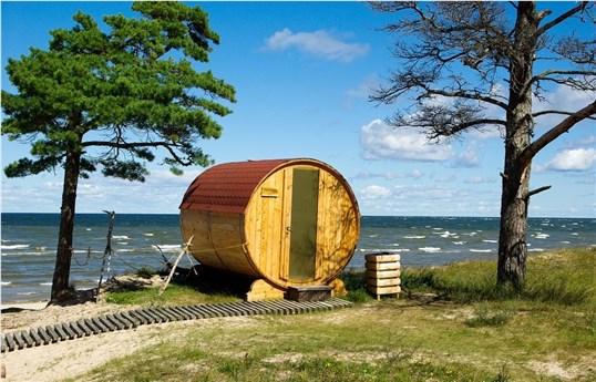 Außen Sauna