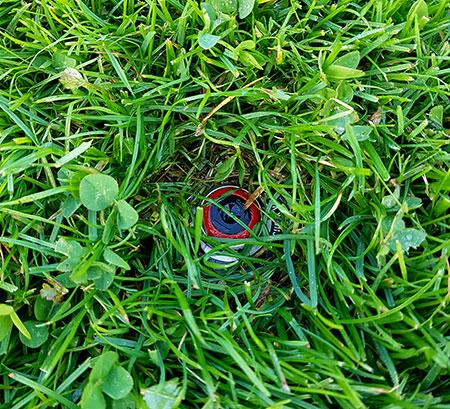Versenkregner Rasen