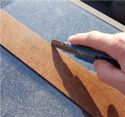 Plexiglas Cuttermesser